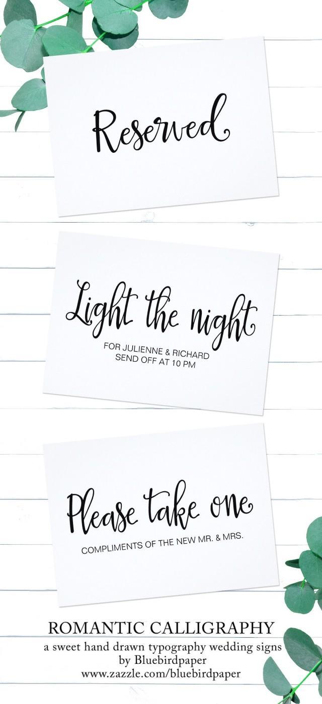 wedding photo - Romantic Calligraphy Wedding Signage