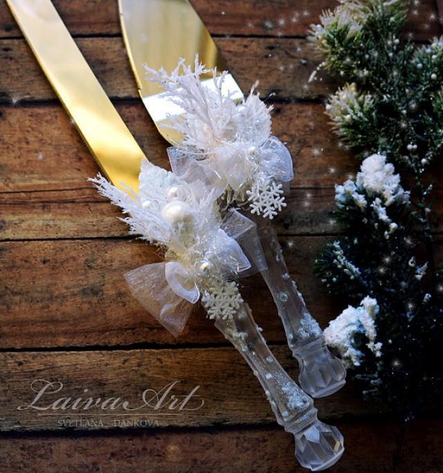 wedding photo - Winter Wedding Cake Server Set & Knife Cake Cutting Set Wedding Cake Knife Set Wedding Cake Servers Wedding Cake Cutter Cake Decoration