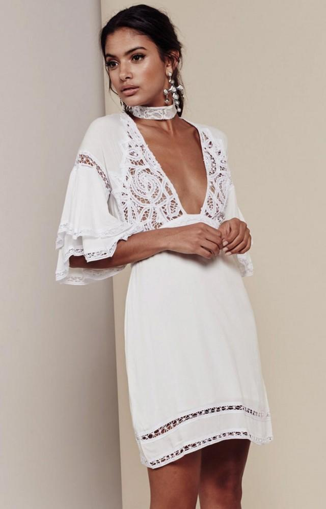 wedding photo - FOR LOVE & LEMONS CARMINE MINI DRESS