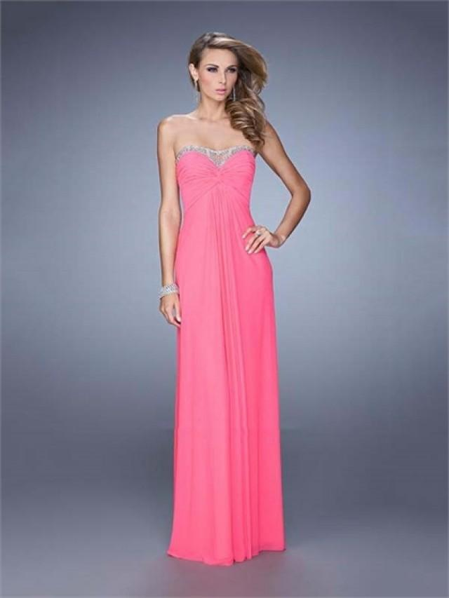 wedding photo - Graceful Strapless Sweetheart Gathered Bodice Chiffon Prom Dress PD3140
