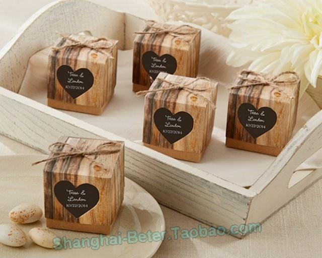 wedding photo - Beter Gifts®     Favor Holder Wedding Candy Boxes bridal écor BETER-HH044