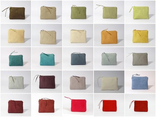 wedding photo - Set of 25    , Coin  Business Cards Pouches Vegan Suede