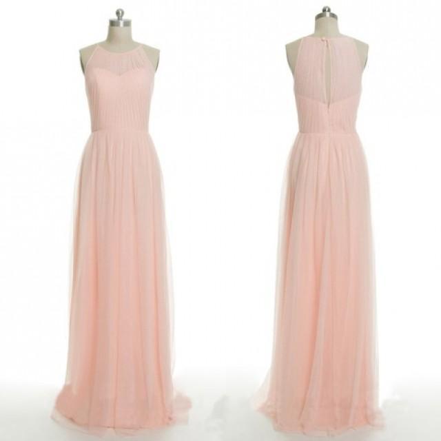 wedding photo - New Arrival Floor Length Jewel Sleeveless Bridesmaid Dress from Dressywomen