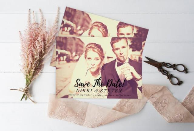wedding photo - Save The Date Photo - Save the Date, Printable Photo Save the Date Card, Wedding Custom Save the Date Photograph, Script Type Save the Date
