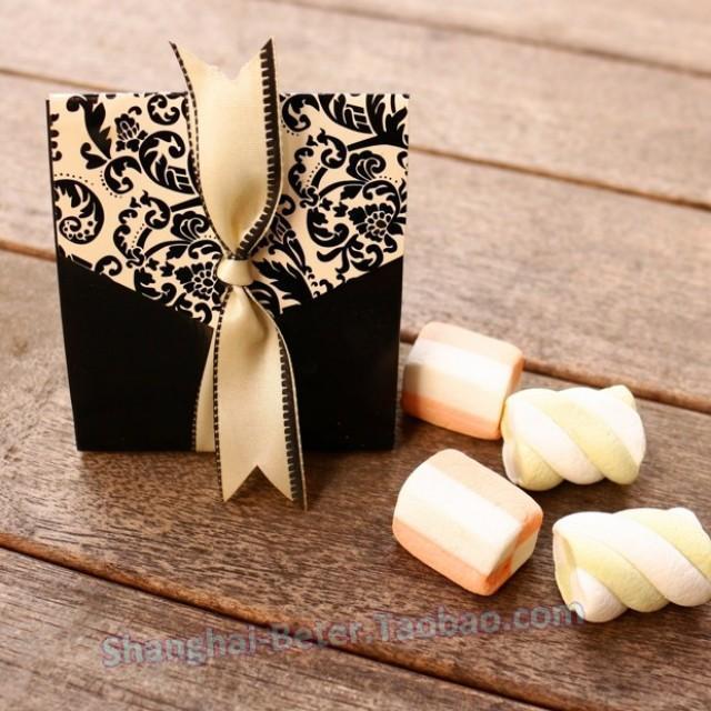 wedding photo - Beter Gifts® 歐式個性高檔 #婚禮佈置 #大馬士革花紋 #喜糖袋 BETER-TH027#糖果盒