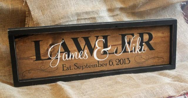 Rustic Wedding Sign PERSONALIZED FAMILY NAME