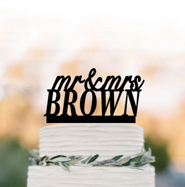 wedding photo - Personalized wedding Cake topper mr and mrs, cake topper monogram, cake topper letter for birthday, custom cake topper name for wedding