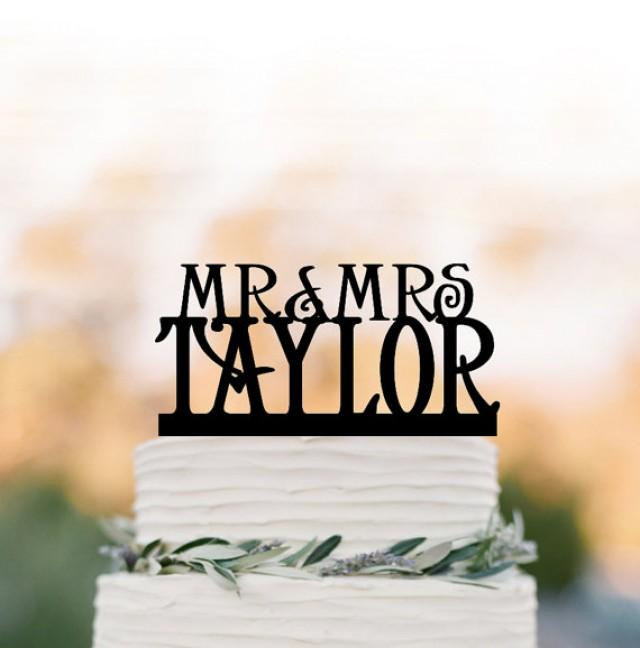 wedding photo - Personalized wedding Cake topper monogram, wedding cake topper mr and mrs, cake topper letter for birthday, custom cake topper name