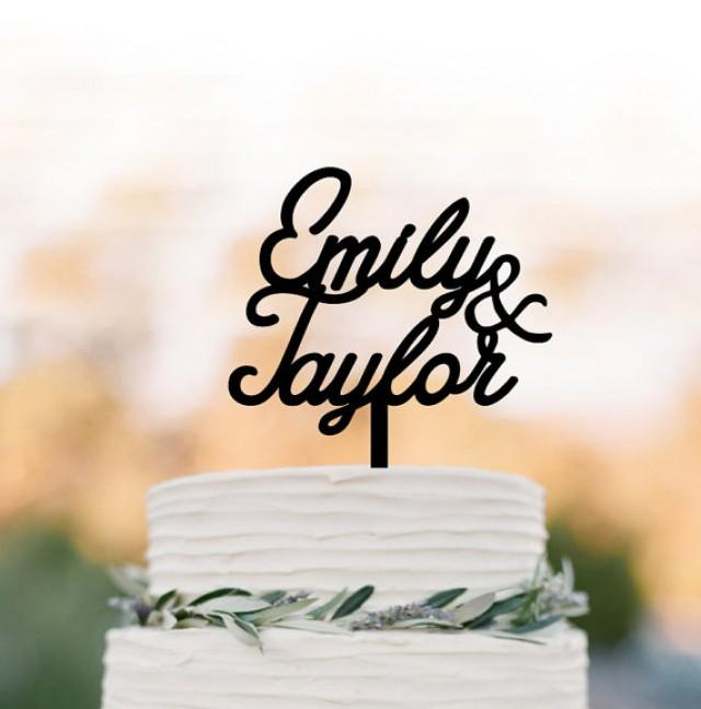 wedding photo - Personalized Cake topper for wedding, wedding cake topper monogram,cake topper with name for birthday, initial cake topper for wedding