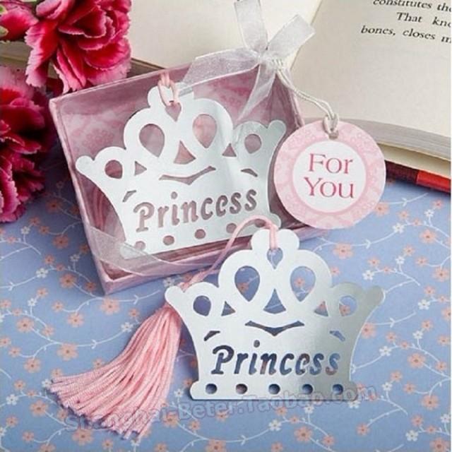 wedding photo - Beter Gifts® Princess Prince Crown Bookmark kindergarten Souvenirs BETER-HH000