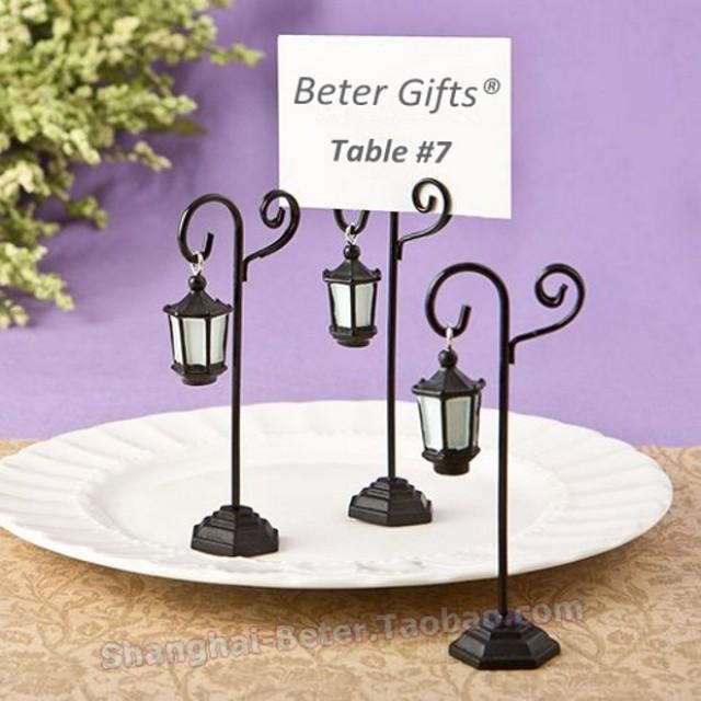 wedding photo - Beter Gifts® #法式婚禮佈置 BETER-WJ066巴黎香榭大道街燈   #席位卡夾  聚會
