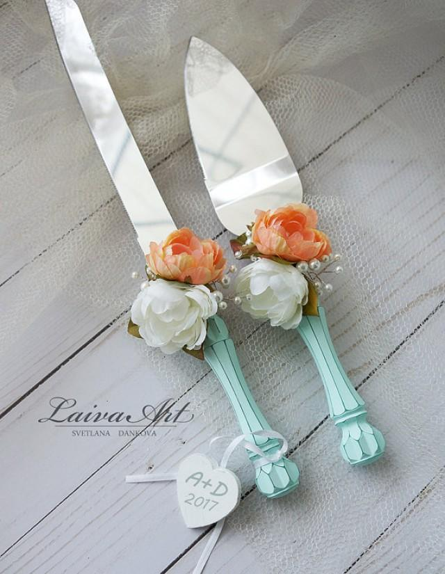Mint Wedding Cake Server