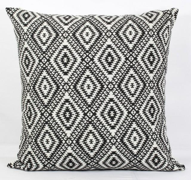 Throw Pillow Covers 26x26 : Black Pillow Cover 24x24 Throw Pillows Black And White Throw Pillow 18x18 Decorative Pillow ...
