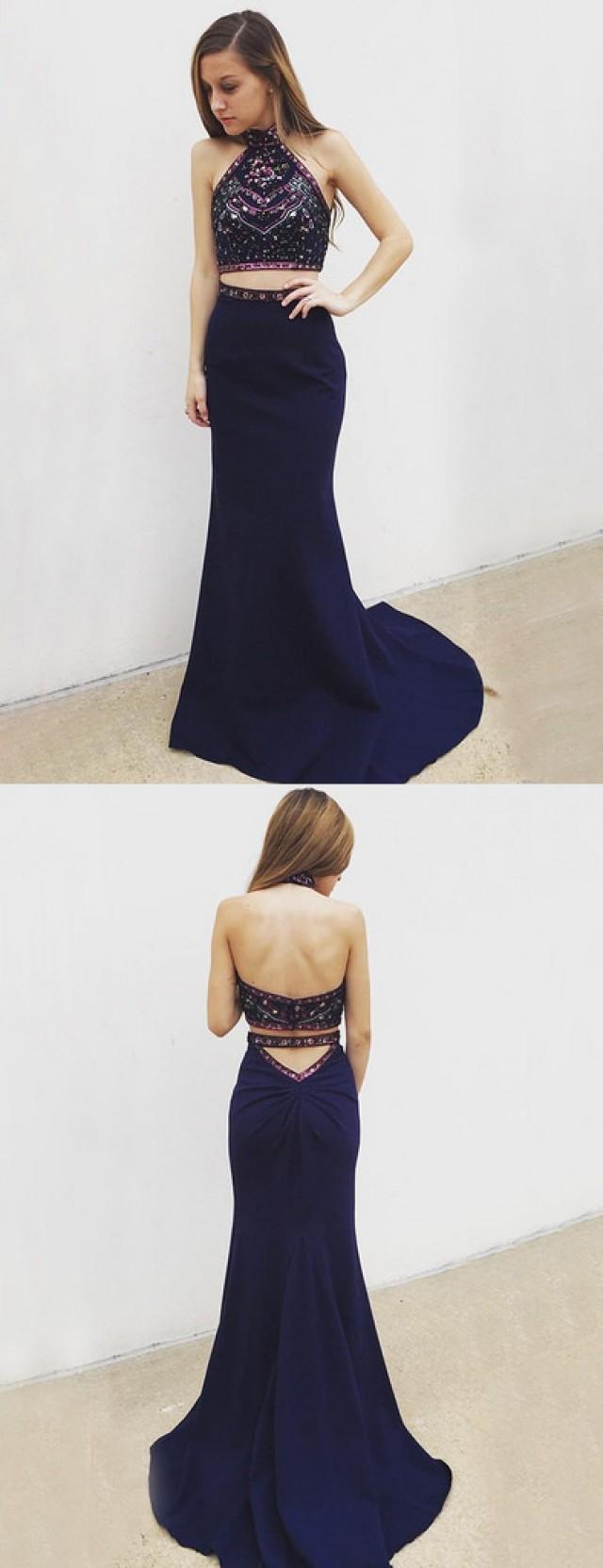 wedding photo - sexy two piece prom dress