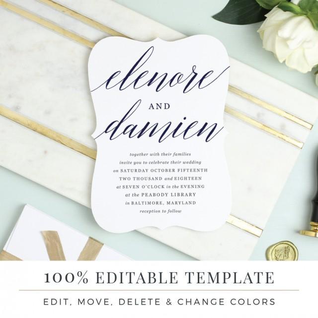 Invitation printable wedding template