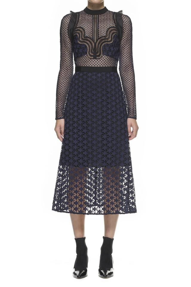 wedding photo - $338.00 Self Portrait Star Repeat Midi Dress
