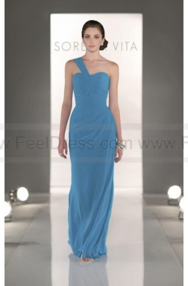 wedding photo - Sorella Vita Turquoise Bridesmaid Dress Style 8281