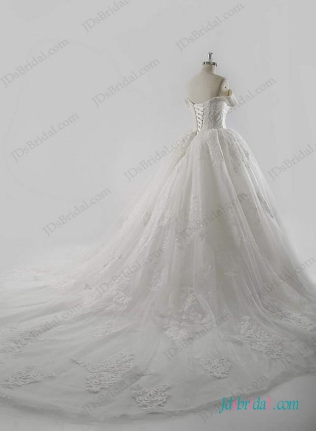 wedding photo - Royal stylish cinderella wedding princess ball gown dress