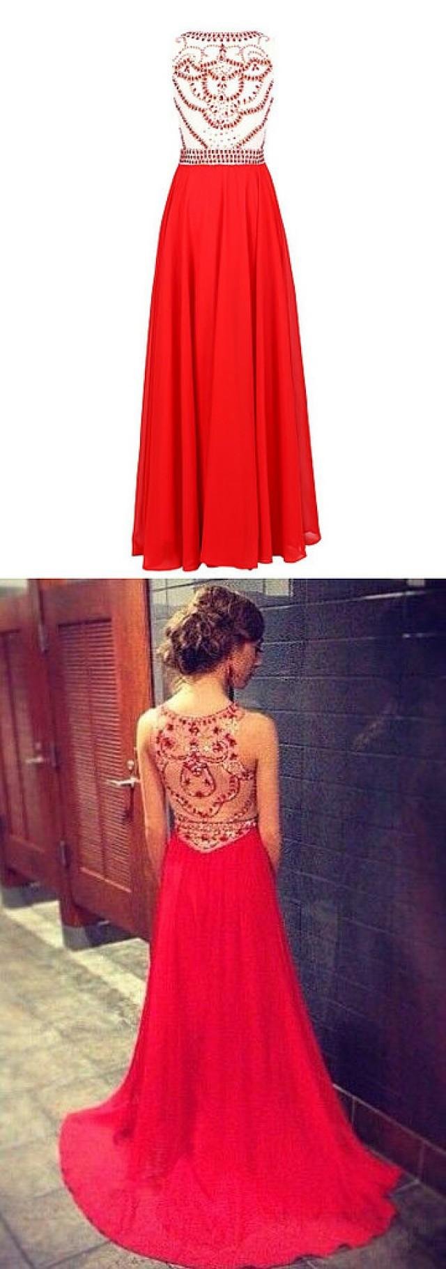 wedding photo - long red prom dresses