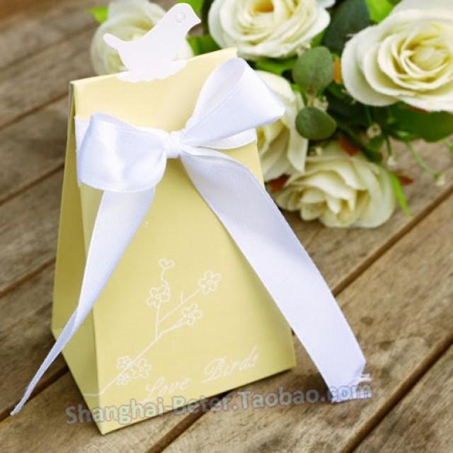 wedding photo - Beter Gifts® #LoveBirds #Weddingdecor #CandyBags #PartyDecor #婚禮佈置 BETER-TH022