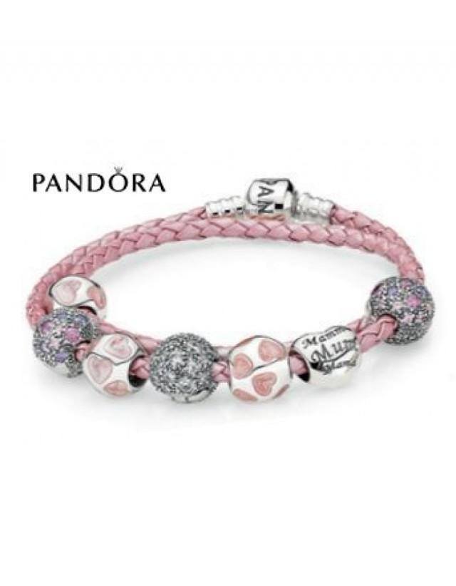 wedding photo - Promotion - Bracelets Pandora Prix * Pandora Love You Mom Inspirational Bracelet - Foncez Sur charmspandorasoldes.com