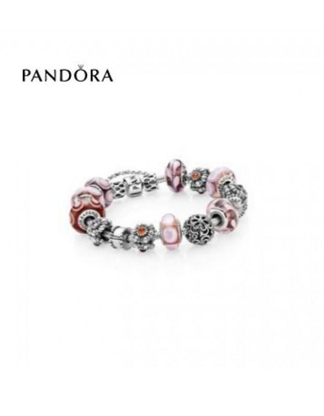 wedding photo - pandora Magasin - Bracelets Pandora Prix * Pandora Tickled Rose Inspirational Bracelet