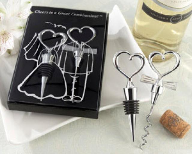 """wedding photo - Beter Gifts® """"Cheers to a Great Combination"""" Wine Set"""