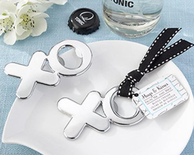 """wedding photo - Beter Gifts®  """"Hugs & Kisses from Mr. & Mrs."""" Chrome XO Bottle Opener"""