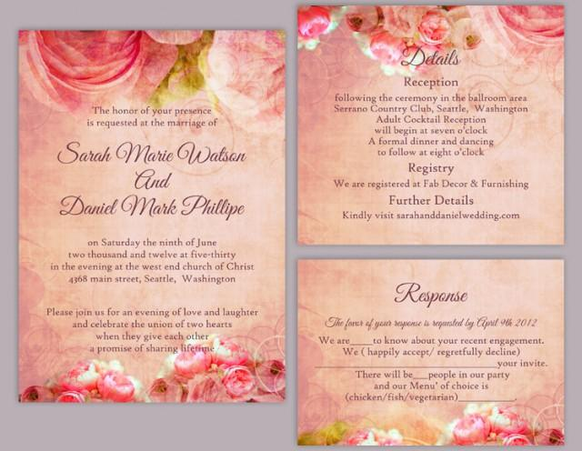 Rustic Wedding Invitation Template – Sample, Example Format Download ...