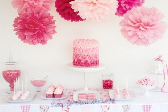 wedding photo - Beter Gifts® #TissuePomFlower BETER-ZH037  #DIYPartyDecoration #BridalShower #diywedding #diydecor