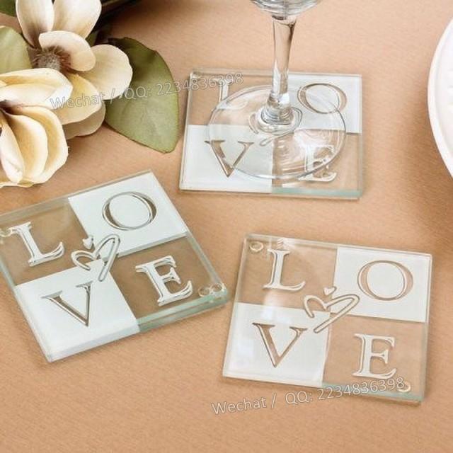 wedding photo - Beter Gifts® 個性LOVE杯墊BD002歐美婚禮用品 新娘婚慶答謝用品年會活動小禮物