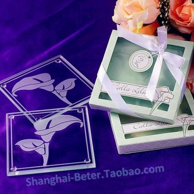 wedding photo - Beter Gifts® 單身派對BD030百合杯墊 歐創意式婚禮小禮品 酒店開幕來賓小禮物