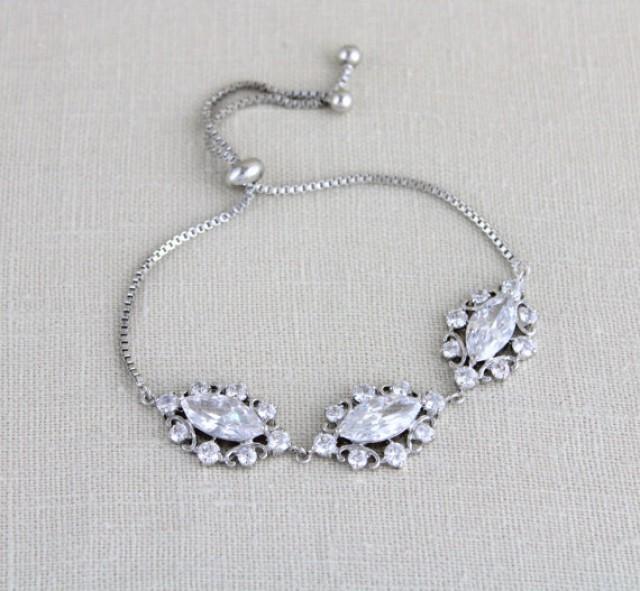 wedding photo - Crystal Bridal bracelet