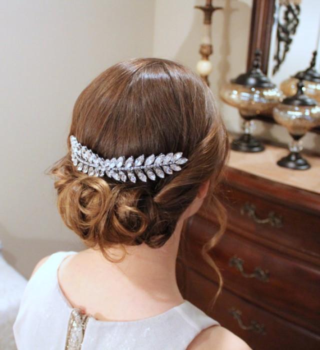 wedding photo - Swarovski Wedding headpiece