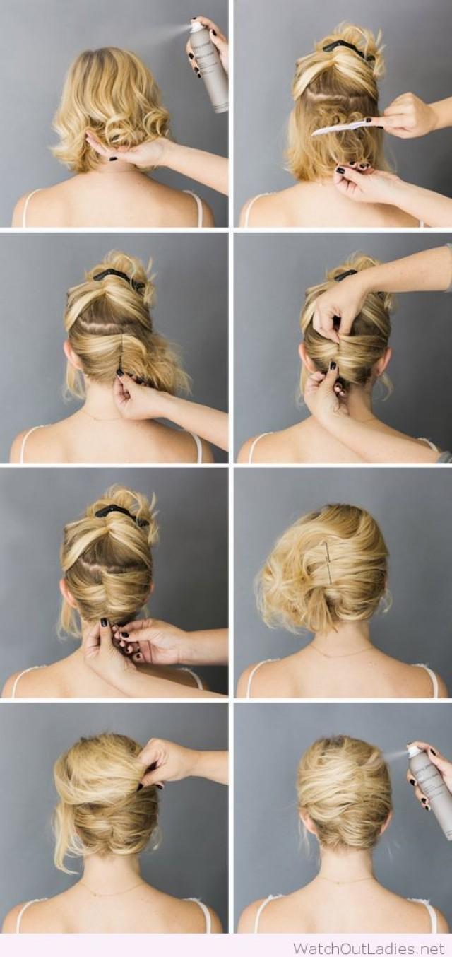 Свадебные причёски на средние волосы своими руками в домашних условиях фото