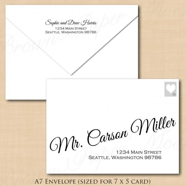 change all colors calligraphy address wedding envelope template a7 text editable in. Black Bedroom Furniture Sets. Home Design Ideas