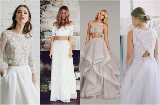 Check Out This Epic Selection Of 2 Piece Wedding Dresses