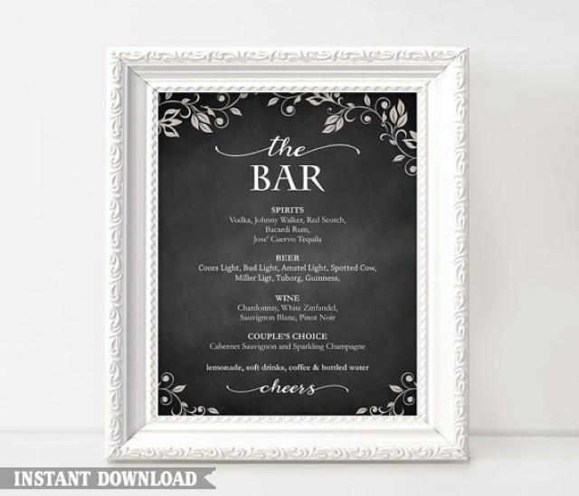 Thedesignsenchanted weddbook for Chalkboard sign templates