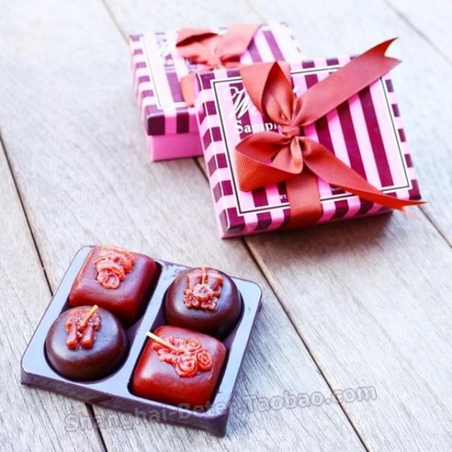 wedding photo - Beter Gifts® Chocolate Candle Favors Bridesmaids 創意伴娘伴手小禮物LZ036