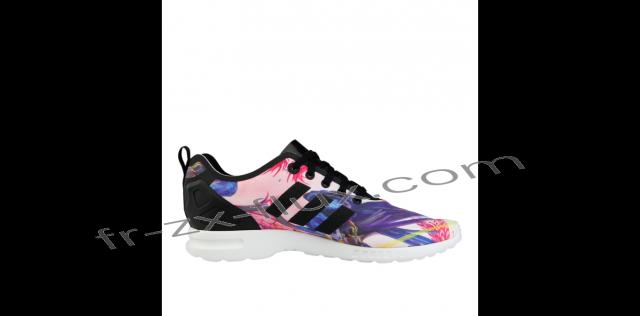 wedding photo - Rabais - Adidas Zx Flux Smooth Florera Optic Bloom Rose / Violet Pour Femmes Chaussures - adidas Collection 2016