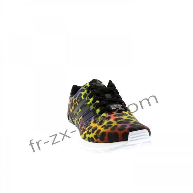 wedding photo - Prix d'Usine - Adidas Zx Flux Rainbow Leopard Noir / Rouge / Jaune Femmes Chaussures - adidas France