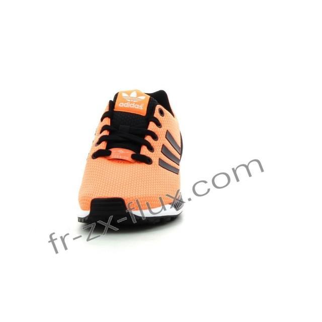 wedding photo - adidas chaussure officielle - Adidas Zx Flux Femmes Orange / Noir Chaussures à prix raisonnable