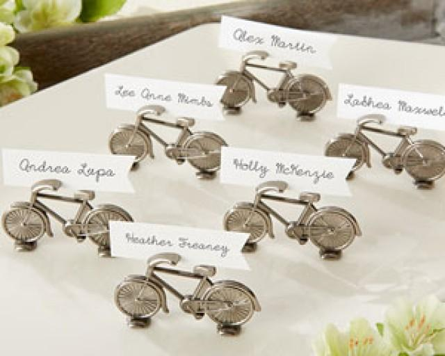 """wedding photo - Beter Gifts® """"Le Tour"""" Bicycle Place Card/Photo Holder http://ShanghaiBridal.Taobao.com"""
