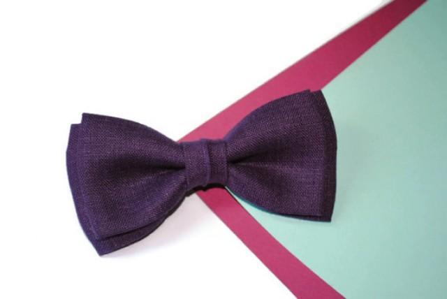 wedding photo - Aubergine wedding Eggplant wedding Dark purple wedding Plum wedding Aubergine bow tie Eggplant bowtie Dark purple necktie Plum tie Groom MAN