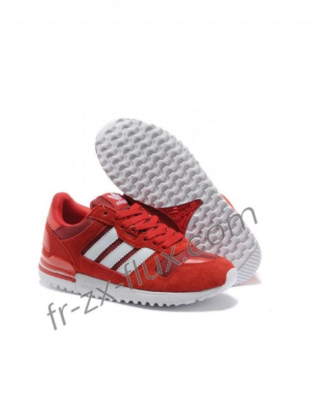 wedding photo - adidas célèbre - Adidas Zx 700 Cuir Breathable Femme Rouge Tomate/Blanc Chaussures confortable Solde