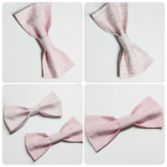 wedding photo - blush bow ties wedding bow ties pink bow tie pale pink bow tie floral bow tie checkered bow tie old pink bow tie groom's tie groomsmen hjfrd