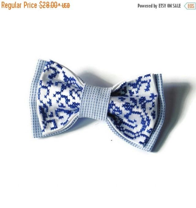 wedding photo - SALE 25% OFF Nautical wedding bow tie Mariage Marin Seaside wedding Beach party Maritime accessories Maritime clothing Sailing Nautical-them