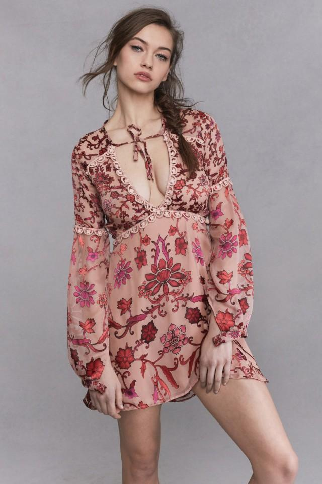 wedding photo - FOR LOVE & LEMONS SAFFRON MINI DRESS