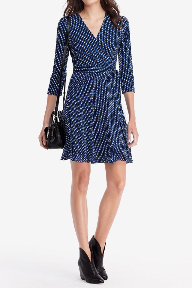 wedding photo - DVF Irina Silk Jersey And Chiffon Wrap Dress