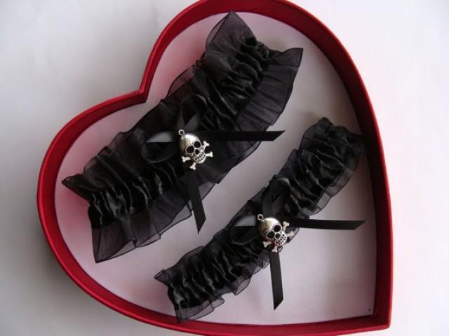 wedding photo - Wedding Garter, Black Wedding Garter Set, Select Keepsake Garter Toss Garter Plus Size Garter Select your charm